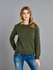 1213 Mönsterstickad oversized tröja | Saltflingan