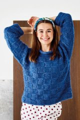 896265 Chunky sweater med rutmönster i Alice