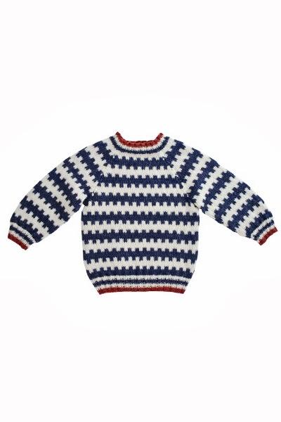 1350 Mönsterstickad tröja till barn