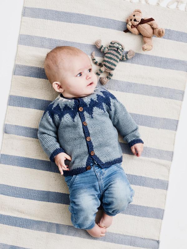 1520 Babytröja med nordiskt mönster 3-24 mån 277069f10ff4d
